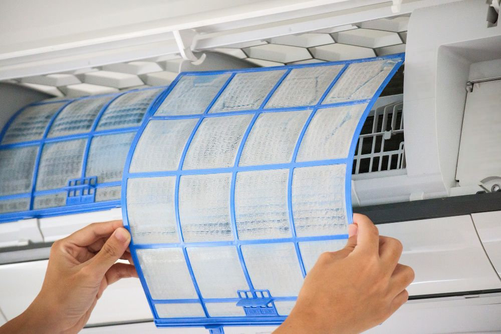 dirty air filter is the cause of common aircon problem